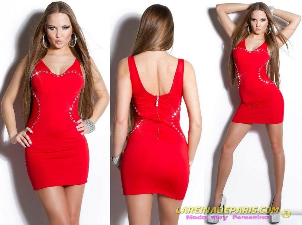 Vestido ajustado rojo diseño exquisito