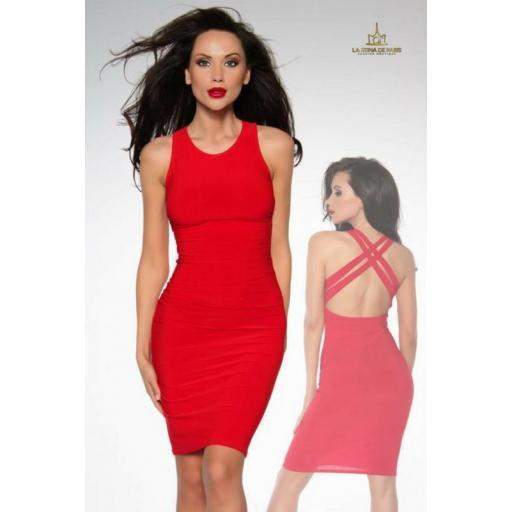 Vestido elástico ajustado rojo