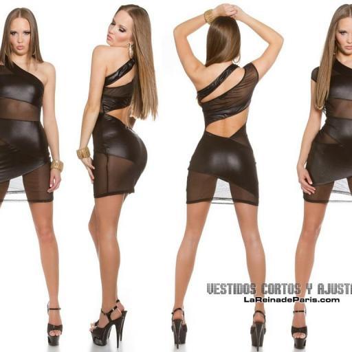 Vestido ajustado transparencias sexy [1]