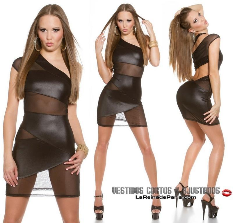 Vestido ajustado transparencias sexy