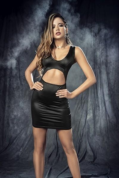 Vestido negro provocativo