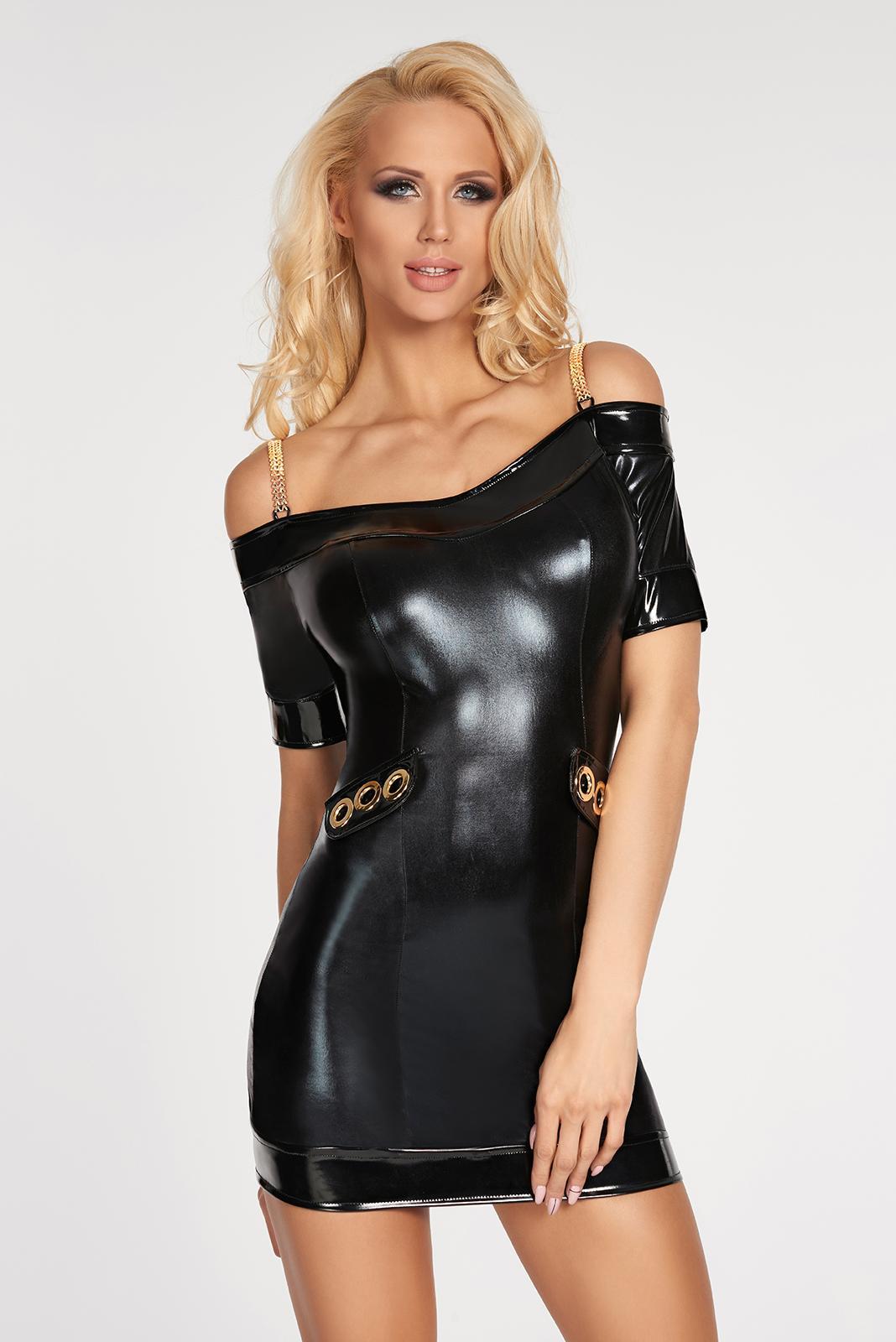 Vestido vinilo ajustado NG