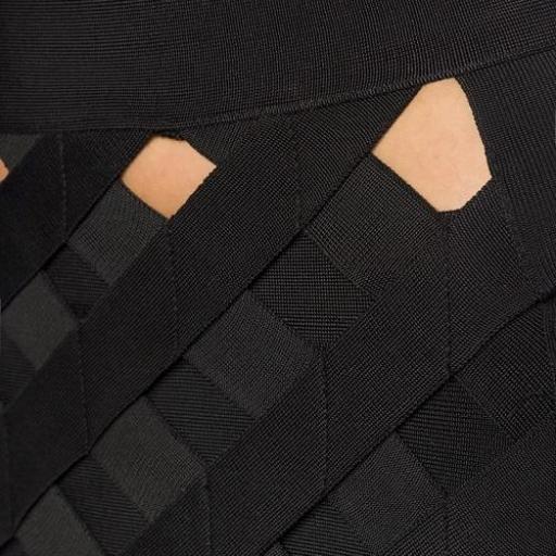 Vestido negro bandage 3 piezas  [2]