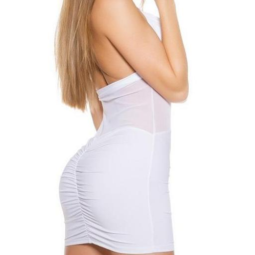 Vestido blanco ajustado transparencias [2]