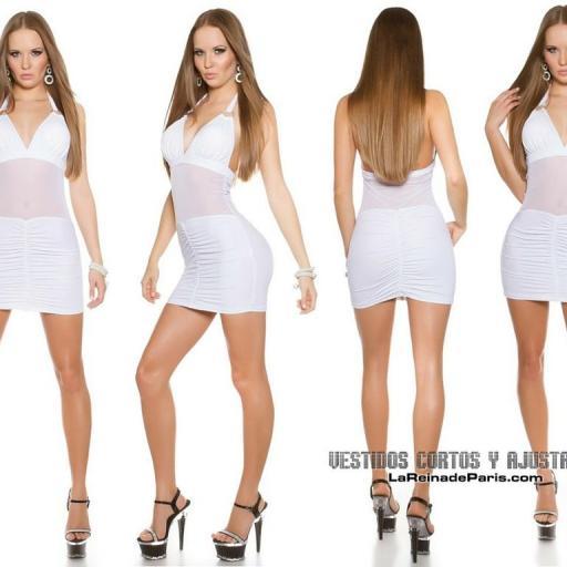 Vestido blanco ajustado transparencias [3]