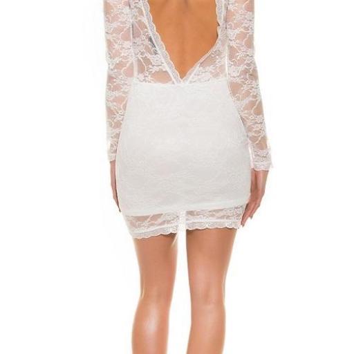 Vestido corto ceñido blanco elegante [3]
