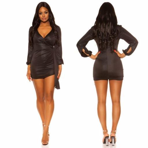 Vestido brillante corto negro [1]