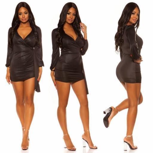 Vestido brillante corto negro [3]