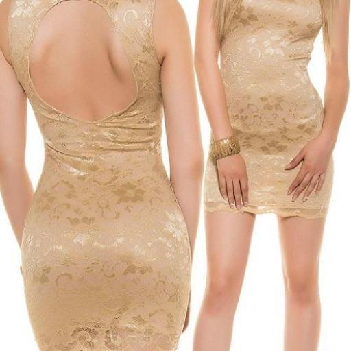 Vestido entallado espalda descubierta [1]