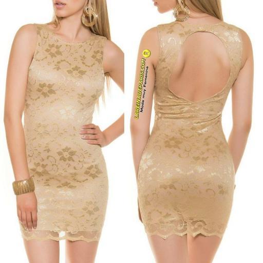 Vestido entallado espalda descubierta [2]