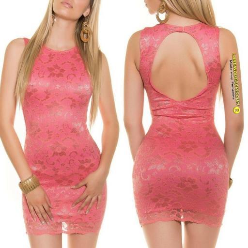 Vestido de encaje espalda descubierta [2]