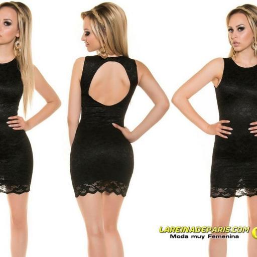 Vestido negro encaje espalda descubierta [1]