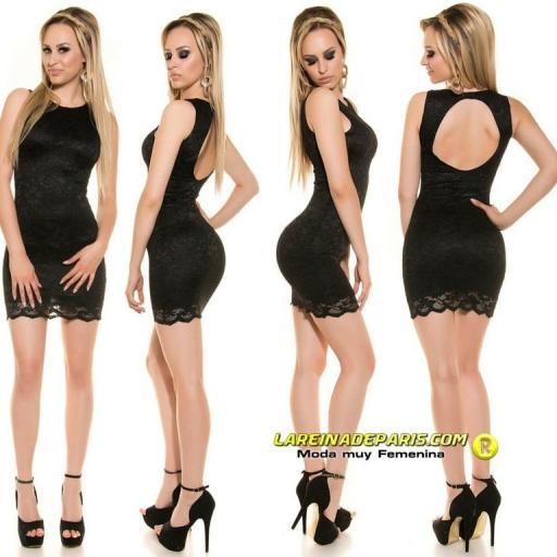 Vestido negro encaje espalda descubierta [3]