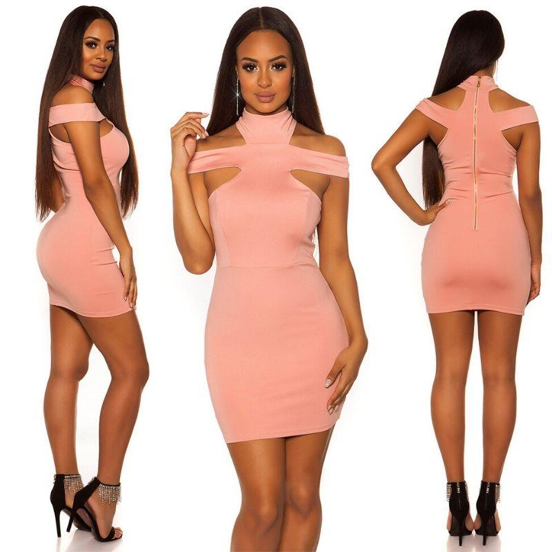Vestido ceñido rosa