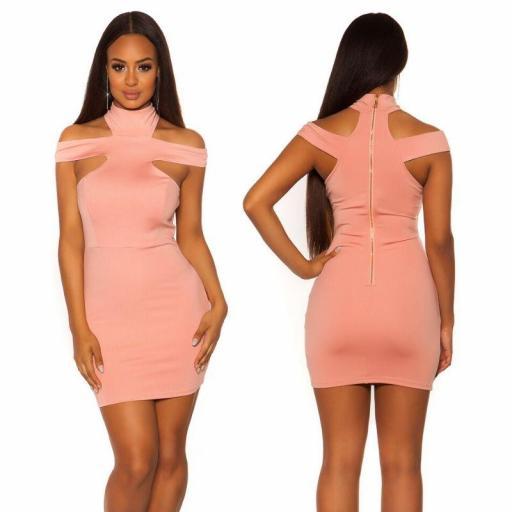 Vestido ceñido rosa [3]
