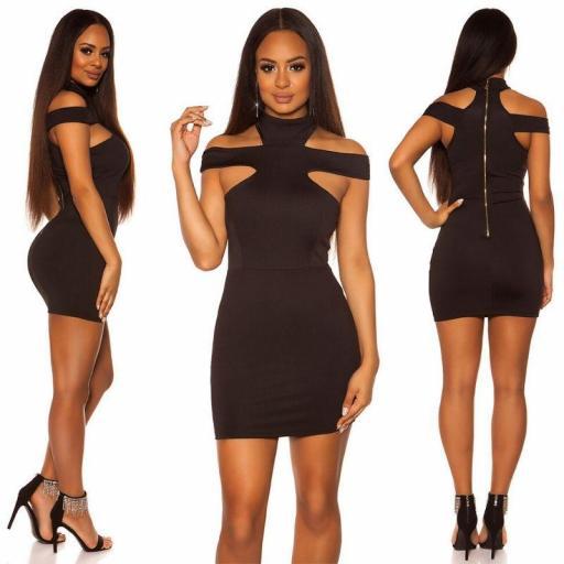 Vestido ceñido negro