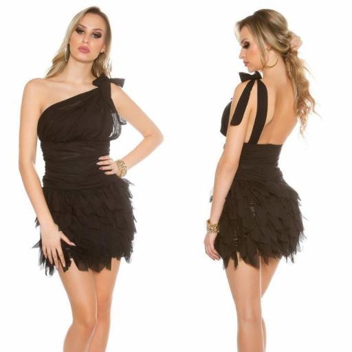Vestido cóctel negro Zahira
