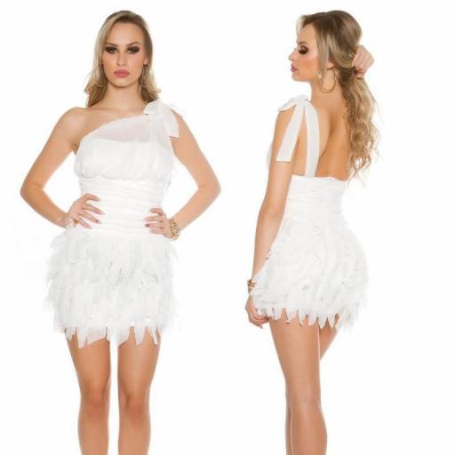Vestido cóctel blanco Zahira