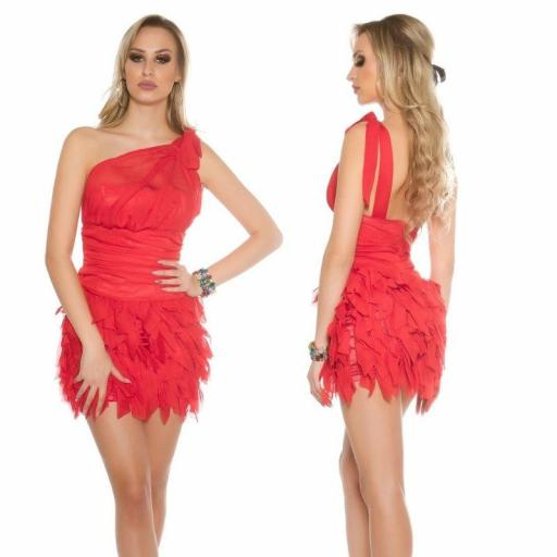 Vestido cóctel rojo Zahira