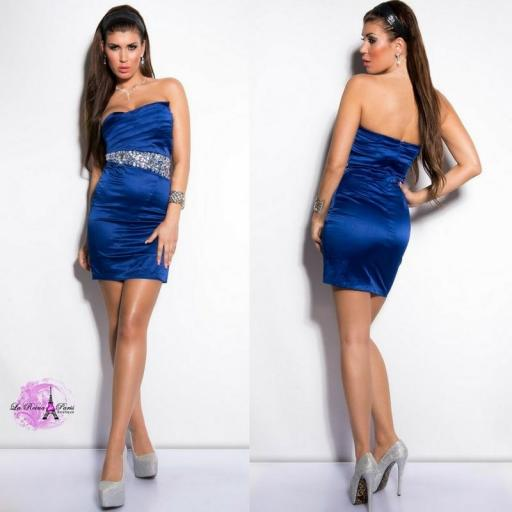 Vestido cóctel azul elegante [1]