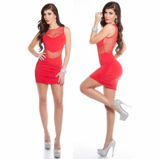 Vestido corto rojo Tokio [2]