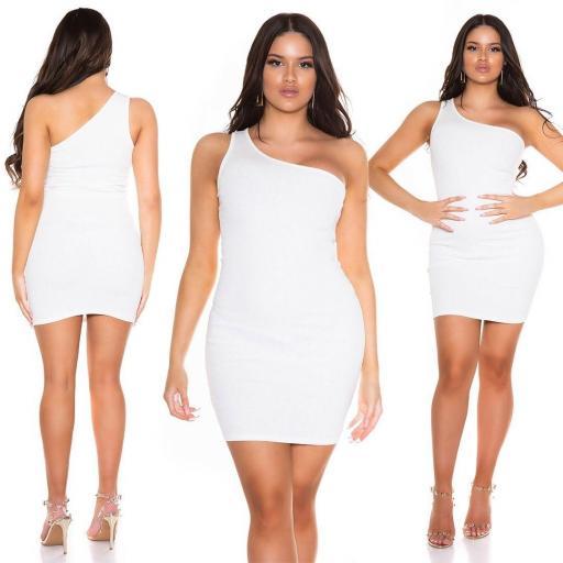 Vestido de verano ajustado blanco