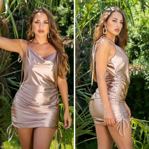 Vestido de moda brillante oro