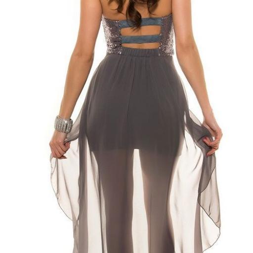 Vestido elegante de fiesta con cola [2]