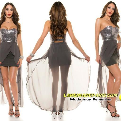 Vestido elegante de fiesta con cola [3]