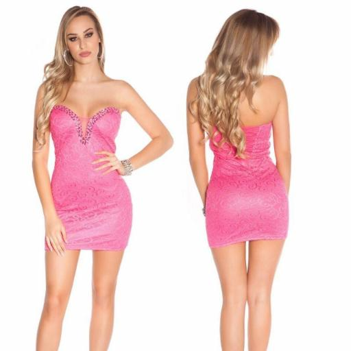 Vestido de fiesta fucsia Bessy [0]