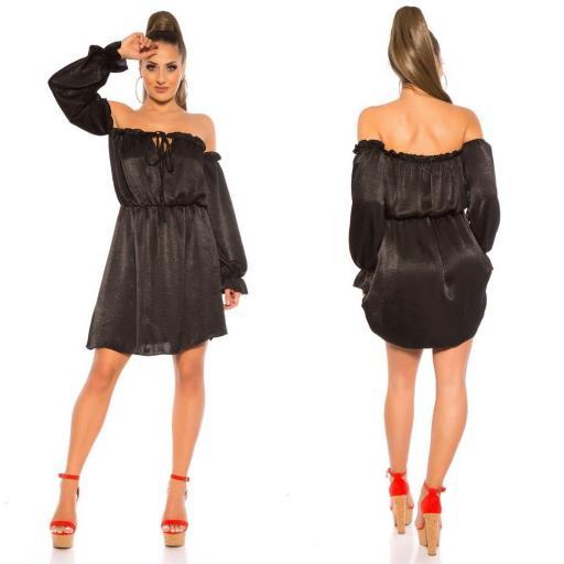 Vestido holgado de hombros descubiertos [3]