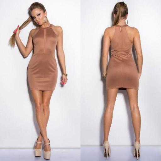 Vestido nude marcatipazo