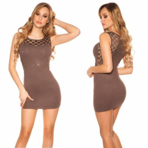Vestido marcatipazo punto fino marrón [1]