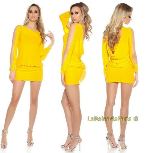 Vestido amarillo pegadito muy atractivo