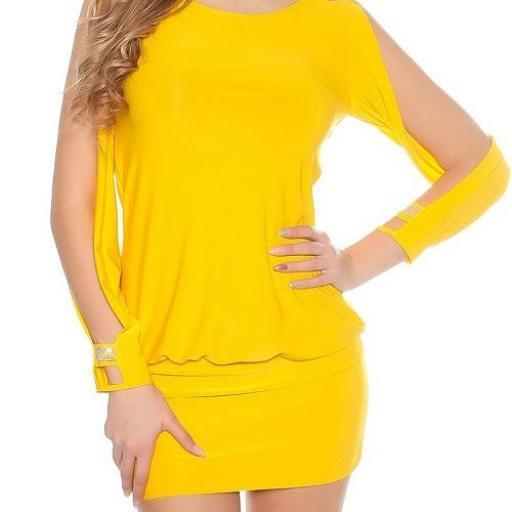 Vestido amarillo pegadito muy atractivo [1]