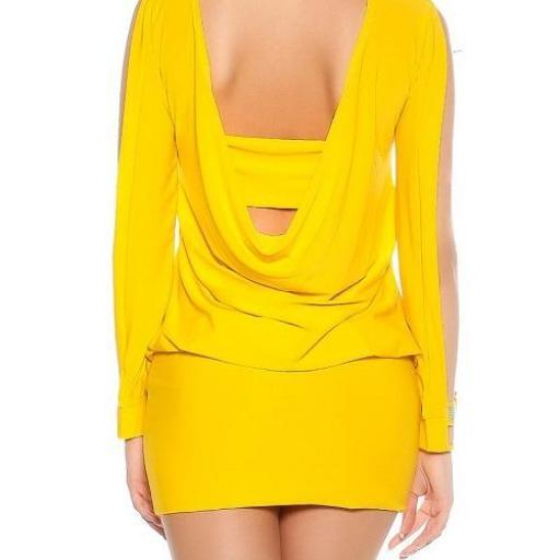 Vestido amarillo pegadito muy atractivo [2]
