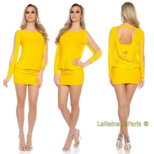 Vestido amarillo pegadito muy atractivo [3]