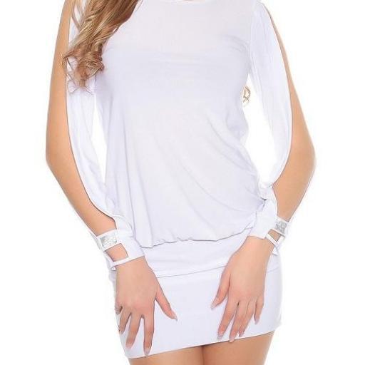 vestido blanco pegadito atractivo look [1]