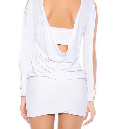 vestido blanco pegadito atractivo look [3]