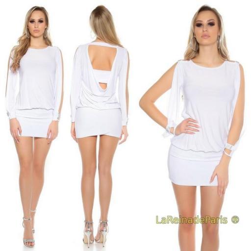 vestido blanco pegadito atractivo look [2]
