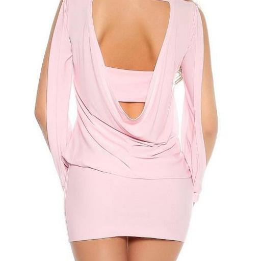 vestido corto para fiesta rosa ajustado [1]