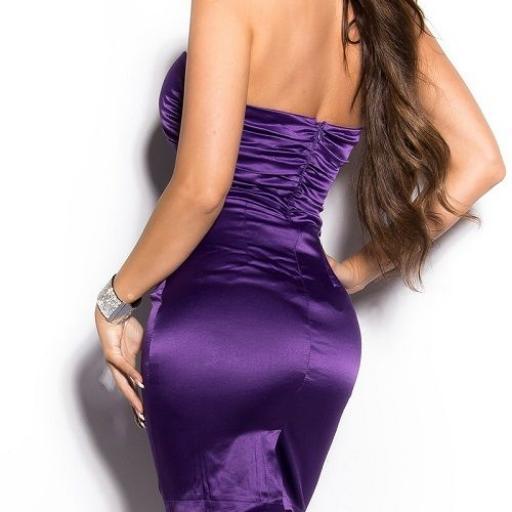 Vestido entallado de cóctel purpura  [2]