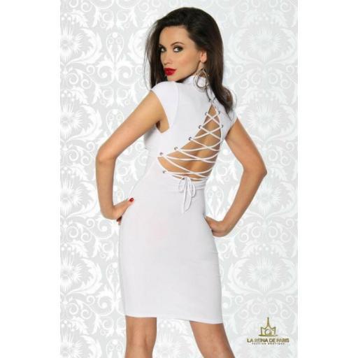 Vestido corto blanco Xareni [1]
