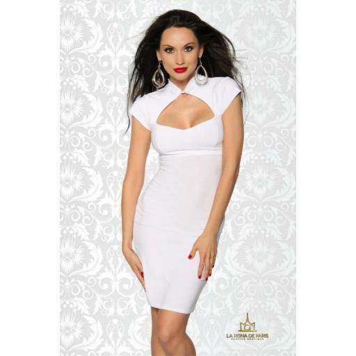Vestido corto blanco Xareni