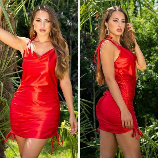 Vestido de moda brillante rojo