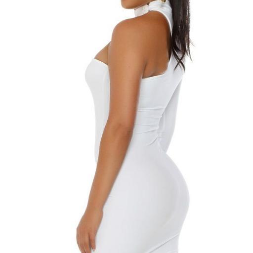 Vestido corto voluptuoso blanco [2]