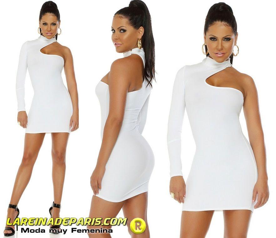 Vestido corto voluptuoso blanco