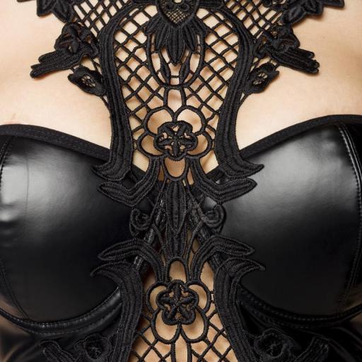 Vestido sexy con encaje de ganchillo  [3]