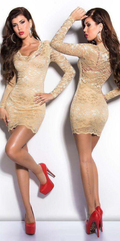 Vestido de encaje seductor diseño