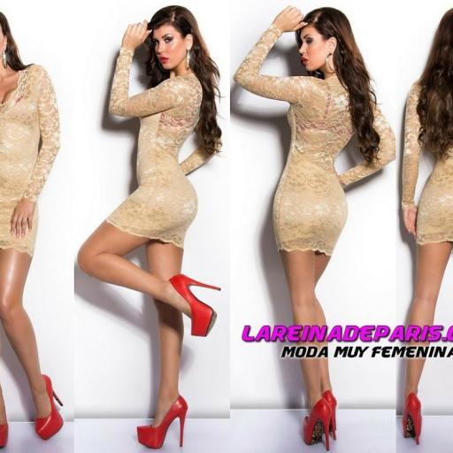 Vestido de encaje seductor diseño  [2]
